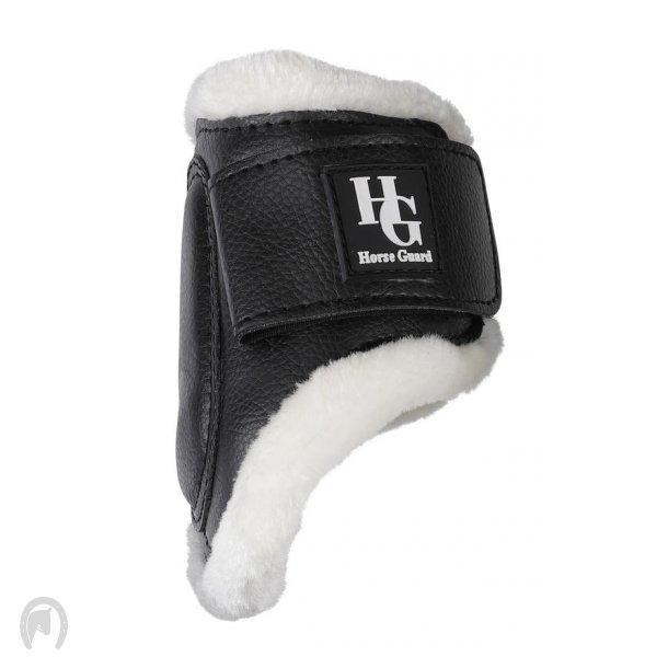 Horse Guard Protection Boots Fur Bagben Sort