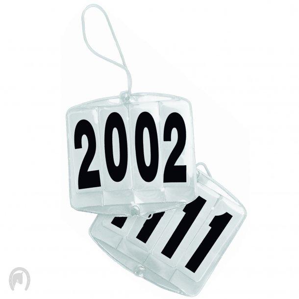 Waldhausen Stævnenummer Hvid plastik 4 cifre