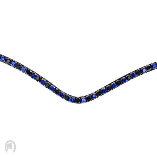 Montar Pandebånd FAIR Navy crystal curved 1r sort