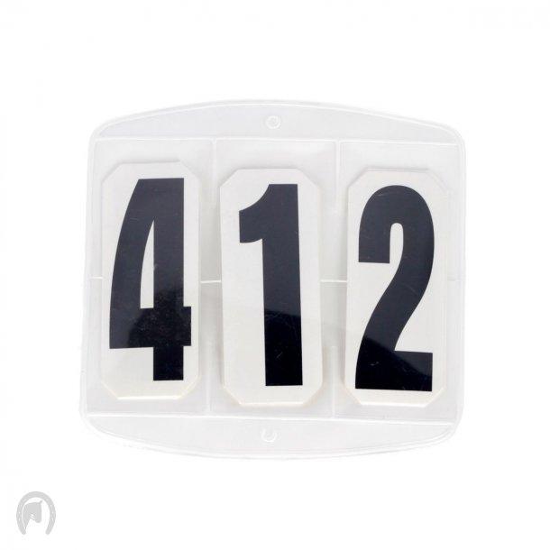 Sydgros Stævnenummer 3 cifre m/Velcro - 2 stk