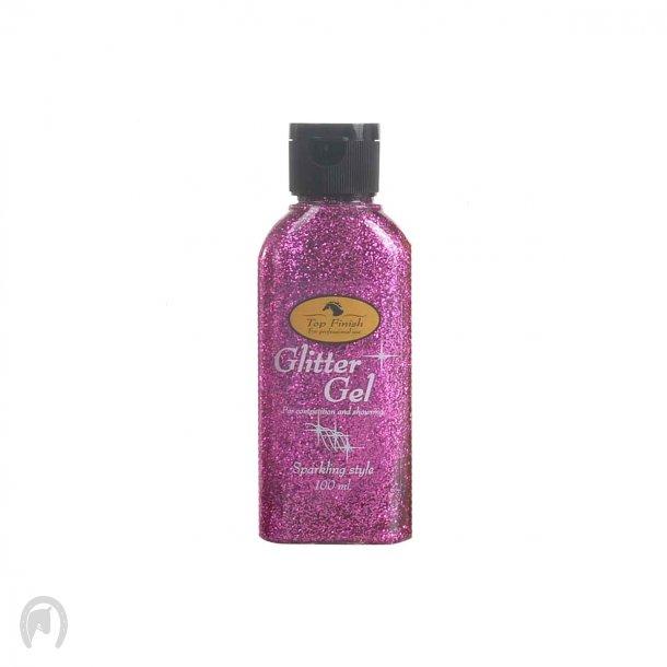 Top Finish Glitter Gel 100ml Pink