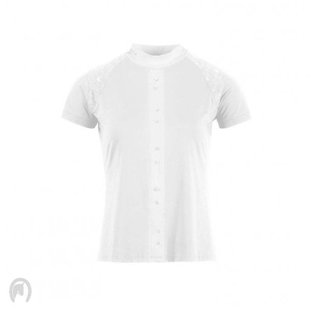 Montar Aya Stævneshirt shoulder lace panel Hvid