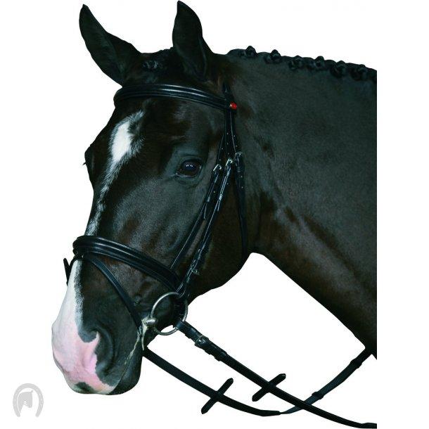 Horse Guard trense komplet m/ griptøjle (Sort)