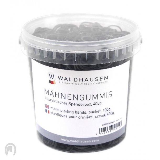 Waldhausen Elastikker i Spand Sort (400g)